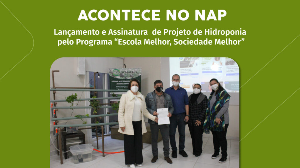 Lançamento e assinatura do projeto de inovação educacional com horta hidropônica
